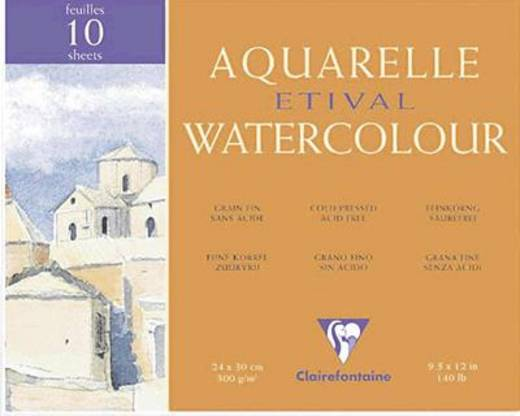 Etival Aquarellblock, fein/96570C 18x24cm 300g