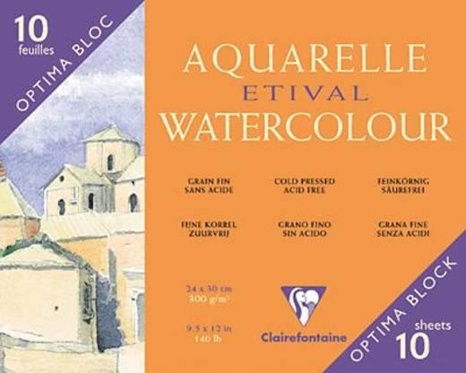 Etival Aquarellblock, fein/96571C 24x30cm 300g