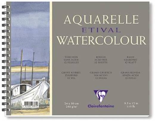 Etival Aquarellblock, rau/96562C 30x40cm rauh 250g