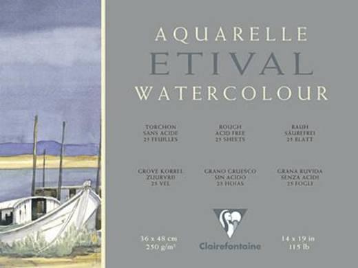 Etival Aquarellblock, rau/96561C 24x30cm rauh 250g