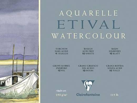 Etival Aquarellblock, rau/96560C 18x24cm rauh 250g