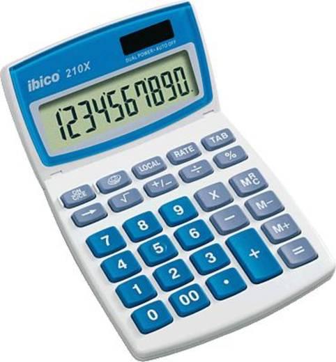 Ibico Tischrechner 210 X/IB410079 hellgrau/blau 10-stellig