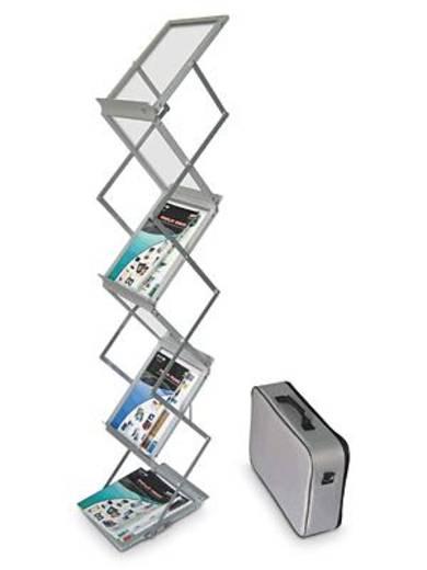 Deflecto Prospektständer zusammenfaltbar/DE36100 silber
