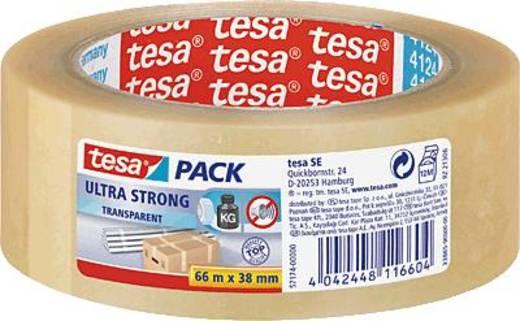 Packband tesa tesapack® Ultra Strong Transparent (L x B) 66 m x 38 mm Inhalt: 1 Rolle(n)