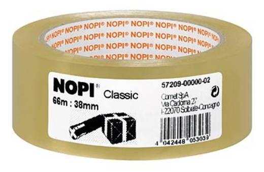 Packband TESA Nopi® Transparent (L x B) 66 m x 38 mm Acryl Inhalt: 1 Rolle(n)