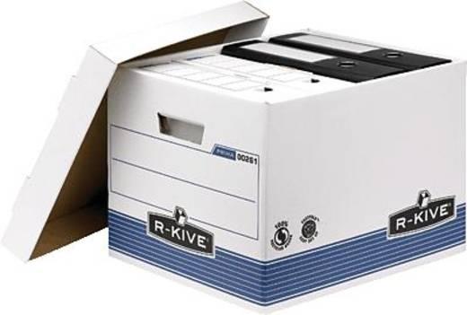 Fellowes Archivboxen mit Deckel/0026101 HxBxT 333x285x390mm blau/weiß