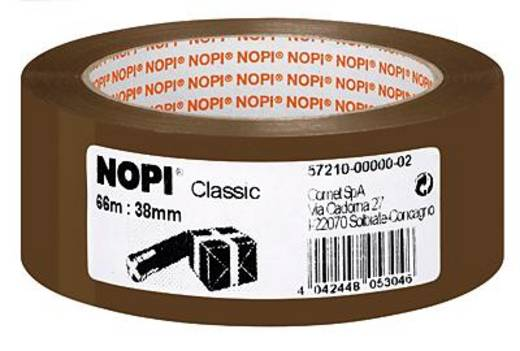 Packband TESA Nopi® Braun (L x B) 66 m x 38 mm Acryl Inhalt: 1 Rolle(n)