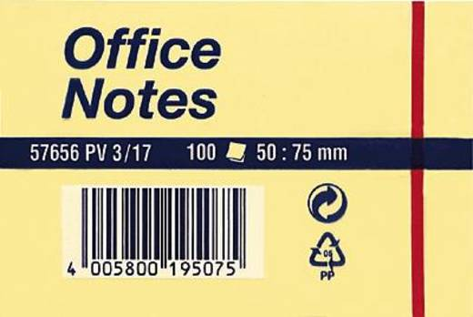 tesa® Haftnotiz Office Notes 57656-00001 50x75 mm gelb Inh.100 Blatt