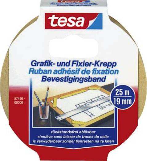 tesa 57416-00000-02 Kreppband tesa® (L x B) 25 m x 19 mm 1 Rolle(n)