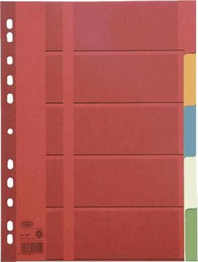 Elba Karton-Register blanko/57451 5-teilig 5-farbig farbiger Karton (RC) 230g/qm