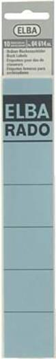 Elba Rückenschilder schmal/kurz/04614BL blau Inh.10