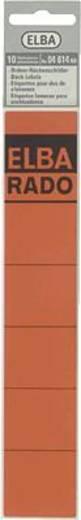 Elba Rückenschilder schmal/kurz/04614RO rot Inh.10