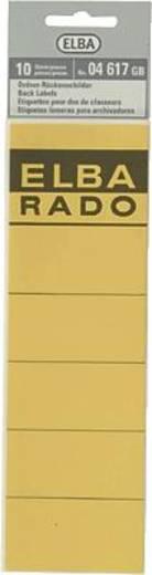 Elba Rückenschilder/04617GB gelb Inh.10