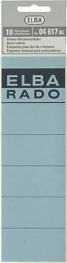 Elba Rückenschilder/04617BL blau Inh.10