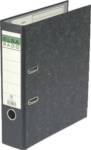 Elba Ordner rado DIN A4 Rückenbreite: 80 mm Schwarz Wolkenmarmor 2 Bügel 10407SW