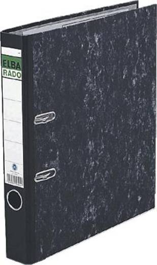 Elba Ordner rado DIN A4 Rückenbreite: 50 mm Schwarz Wolkenmarmor 2 Bügel 10404SW