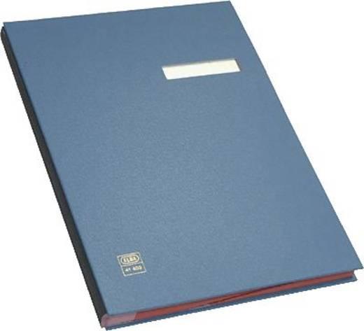 Elba Unterschriftenmappe/41403BL für DIN A4 blau PVC