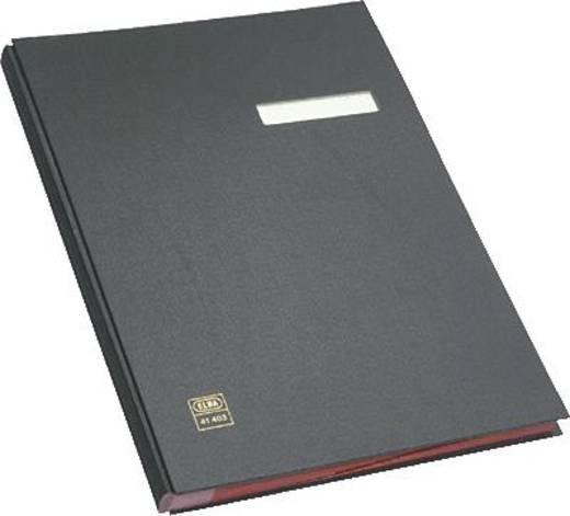 Elba Unterschriftenmappe/41403SW für DIN A4 schwarz PVC