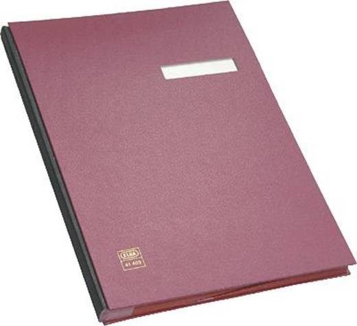 Elba Unterschriftenmappe/41403RO für DIN A4 rot PVC