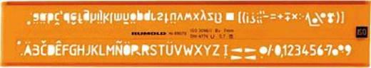 Rumold Schriftschablonen 2,5mm/89025 orange/transparent Cellidor