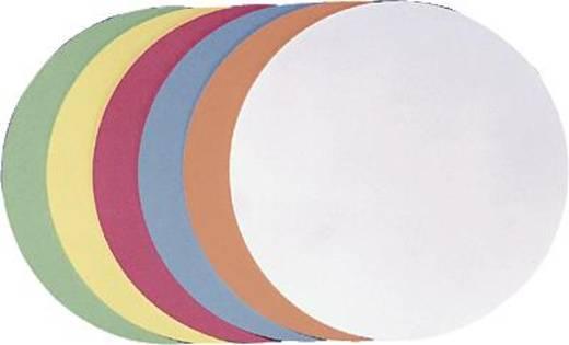 FRANKEN Moderationskarten Kreise/UMZ 20 04 Ø 19,5cm gelb 130 g/qm Inh.500