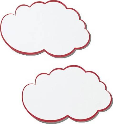 FRANKEN Moderations-Wolken/UMZ W 25x42cm weiß/rot Inh.20