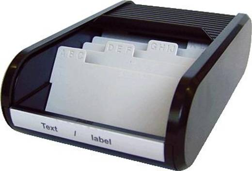 helit Visitenkartenbox Linear/H6218095 136x240x67mm schwarz Visitenkartenboxen
