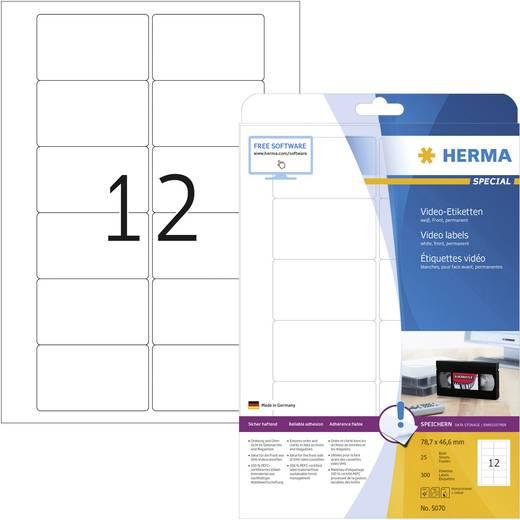 Video-Etiketten A4 78,7x46,6 mm weiß Papier matt 300 St.