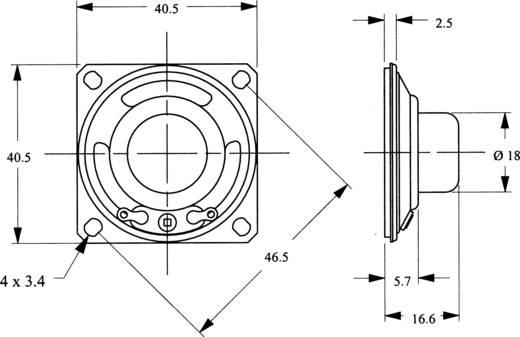 Miniaturlautsprecher LSM-SQ Serie Geräusch-Entwicklung: 82 dB 8 Ω Nennbelastbarkeit: 200 mW 700 Hz Inhalt: 1 St.