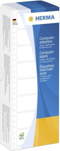 Herma 8163 Etiketten (Endlos) 101.6 x 48.4 mm Papier Weiß 2000 St. Permanent Universal-Etiketten Matrix/Nadel