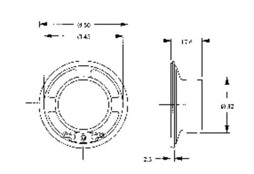 Miniatur Lautsprecher Geräusch-Entwicklung: 84 dB 120050 1 St.