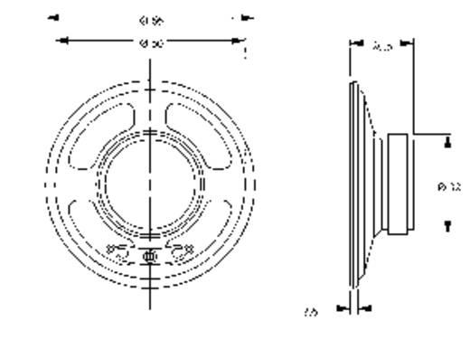 Lautsprecher LSM-Serie Geräusch-Entwicklung: 85 dB 8 Ω Nennbelastbarkeit: 500 mW 280 Hz Inhalt: 1 St.