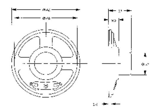 Lautsprecher LSM-Serie Geräusch-Entwicklung: 84 dB 8 Ω Nennbelastbarkeit: 300 mW 280 Hz Inhalt: 1 St.