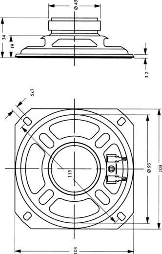 Miniatur Lautsprecher Geräusch-Entwicklung: 89 dB 3 W 130050 1 St.