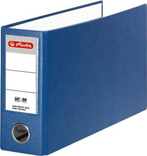 Herlitz Ordner PP A5 quer/10842359 blau