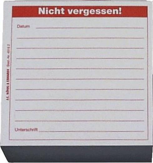 K + E Memoblöcke/8645162 9,8x9,8x5 cm rot Nicht vergessen Inh.500 Blatt