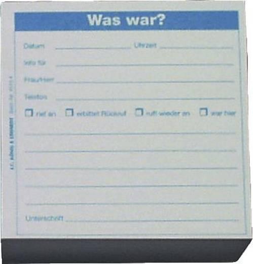 K + E Memoblöcke/8645164 98x98x50 mm blau Was war? Inh.500 Blatt