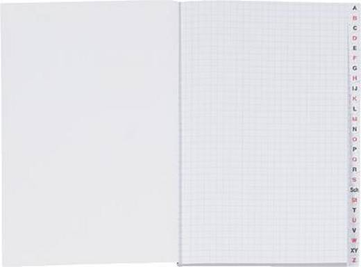 K + E Kladden/8618752-300SB96DR A5 rot kariert 70 g/qm Register A-Z Inh.96 Blatt