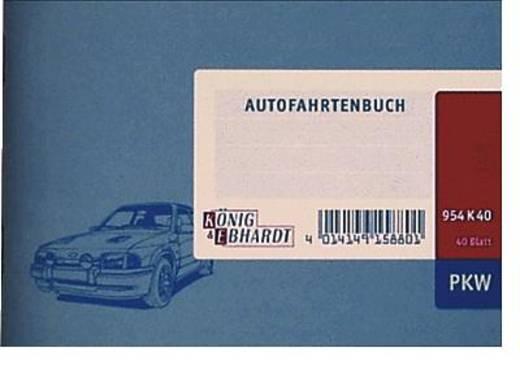 K + E Autofahrtenbücher/8610141-954K40 DIN A6 quer hellblau Inh.40 Blatt
