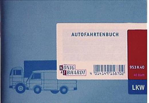K + E Autofahrtenbücher/8610142-953K40 DIN A6 quer hellblau Inh.40 Blatt