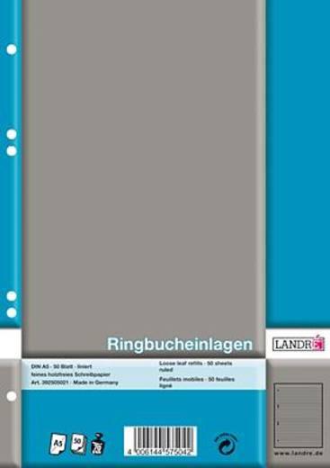 LANDRÉ Ringbucheinlagen DIN A5/392505021 weiß liniert 70 g/qm Inh.50