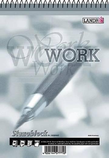LANDRÉ Stenoblock Work/355504012 DIN A5 liniert 60 g/qm Inh.40 Blatt
