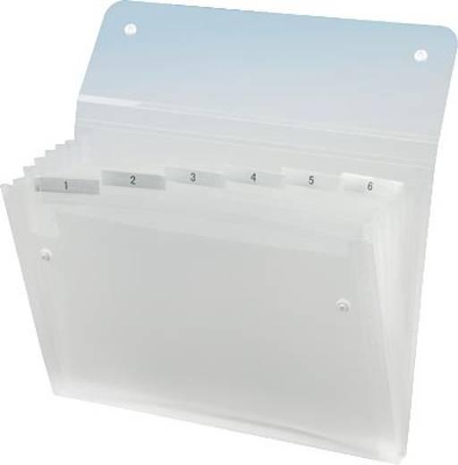 REXEL Fächermappe ICE Serie/2102033 A4 transparent klar 6-teilig