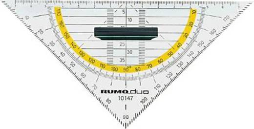 Rumold Geometrie-Dreiecke/10147 16 cm rauchgrau getönt Kunststoff mit Griff