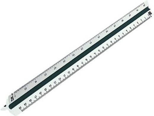 Rumold Dreikantmaßstab 150/150KE/DIN/30 30 cm weiß Kunststoff ingenieur DIN