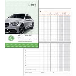Image of Sigel FA514 DIN A5 Fahrtenbuch Anzahl der Blätter: 32 Weiß 32 Blatt