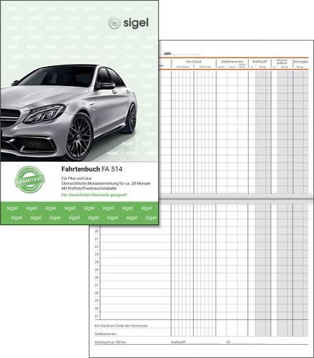 Sigel Fahrtenbuch/FA514 DIN A5 hoch weiß Inh.32 Blatt