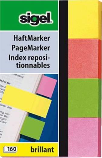 sigel Haftmarker Brillant/HN630 50x 80 mm gelb/rot/grün/pink Inh.160