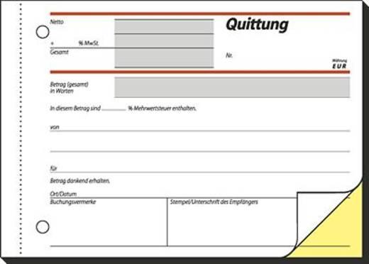 Sigel Quittung/SD022 A6 q Inh.2x40 BL