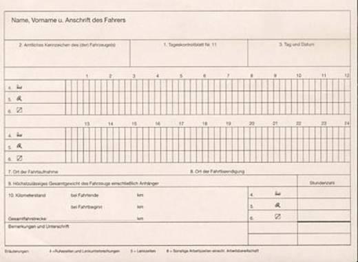RNK Fahrtenbuch, Kontrollbuch (nach § 1 vormals § 6 Abs. 6 FPersV), A 5 quer, 32 Blatt/3095